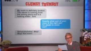 Ellen Show : Clumsy Thumbsy! Steam Crisp Nipples   The Ellen DeGeneres Show TODAY FULL (6/4/14)