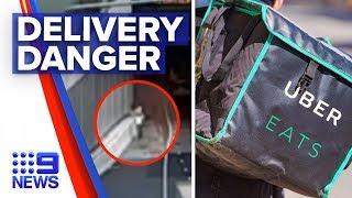 Coronavirus: Food delivery driver's dangerous journey | Nine News Australia