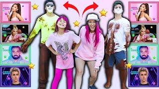 DESAFIO TABULEIRO DOS FAMOSOS ( Justin Bieber/Ariana Grande/Dua Lipa/ Drake ) Teens Fun