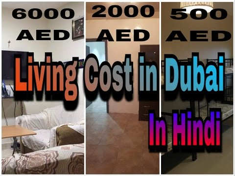 Cost of living in Dubai  in Hindi
