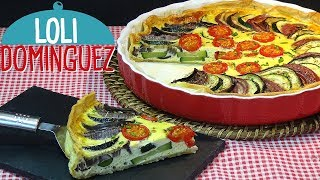 DELICIOSA Tarta de verduras al horno SUPER FACIL.  Recetas paso a paso, tutorial. Loli Domínguez
