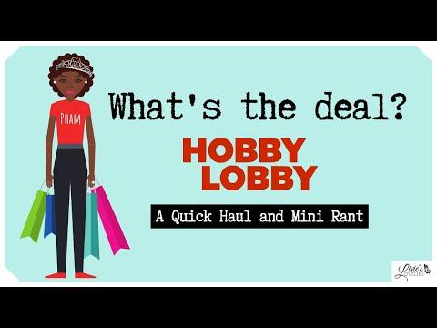 WHAT'S UP WITH HOBBY LOBBY!? | CRAFT HAUL | TINY RANT