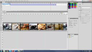 How to create a film strip with photos rolling. Photoshop and Flash CS5