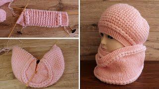Берет «Маршмелоу» выполнен клиньями | Beret Wedge knitting pattern