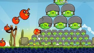 Huge Angry Birds - SHOOT BOMBER BIRDS TO BLAST ALL PIGGIES GAMEPLAY!