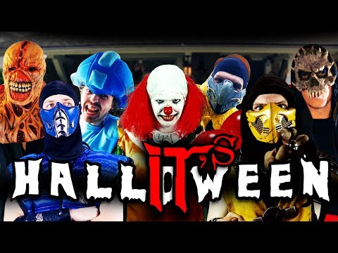 REAL MORTAL KOMBAT - IT's HALLOWEEN! (MKX vs Pennywise The Dancing Clown Parody)