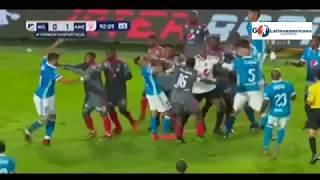 Pelea y Expulsados - Millonarios vs America 0-1 - Torneo FoX Sports - 19/01/2018