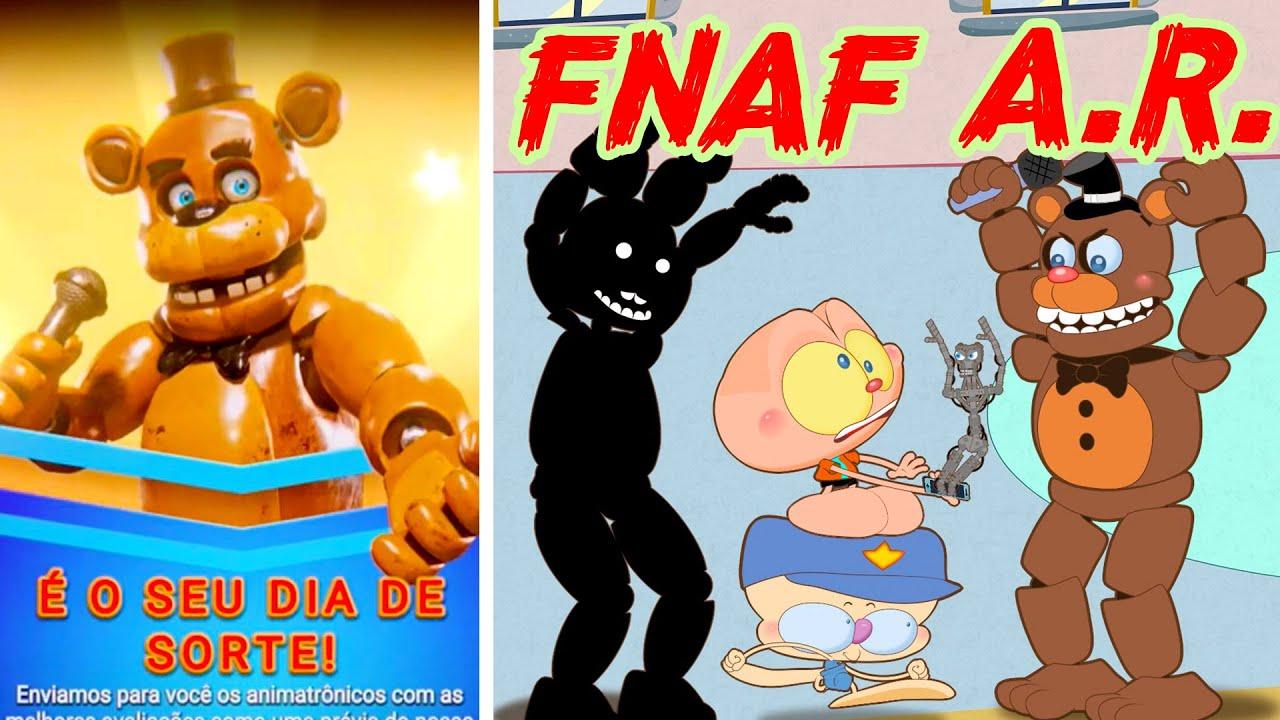 Mongo e Drongo na noite 3 de FNAF Special Delivery - Five Nights at Freddy's AR  em desenho animado