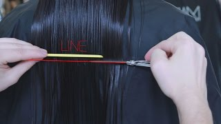 best haircut for thin hair, line technique