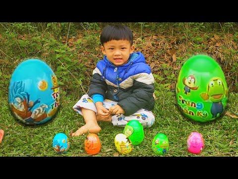 HỌC và CHƠI cùng bé Bom #1 💕 Học màu sắc với trò đập trứng đồ chơi | Bom Bee Kids vlab crazy šovs