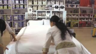 tender cama con estilo hotelero