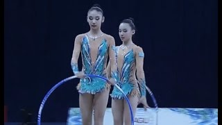 Художественная гимнастика Групповые упражнения Kazakhstan (5 обручей) World Cup Tashkent 2017