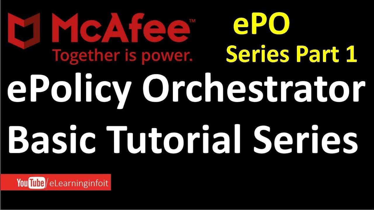 McAfee ePO Server Basic Tutorials Series Part 1 (ePO Installation)
