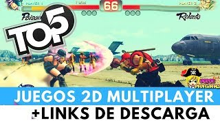 TOP 5 JUEGOS 2D MULTIPLAYER ONLINE Y COOPERATIVOS LOCAL + LINKS