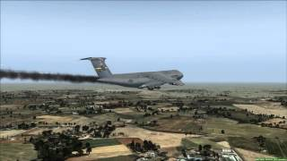 C-5A Galaxy Drifting Emergency Landing