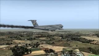 C-5A Galaxy Drifting Emergency Landing