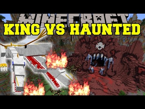 ULTIMATE KING VS HAUNTED MANSION - Minecraft Mods Vs Maps (EXPLOSIVE BEAMS & CRUSHING!)