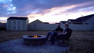 Our DIY smokeless fire pit upgrade. . . kinda worked?