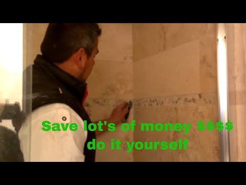 how to repair grout inside the shower - YouTube