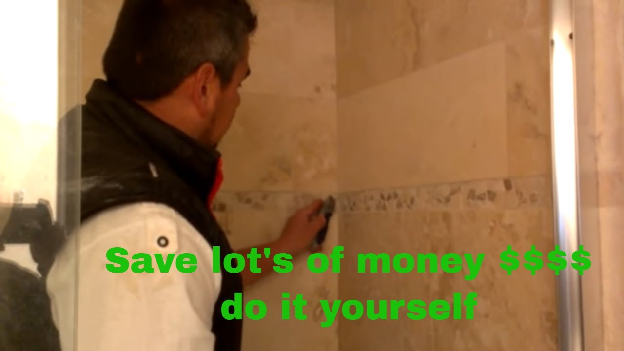 How To Regrout Shower Tile Grout Repair In Shower Youtube