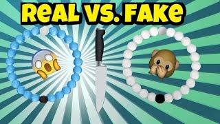 cutting open real vs fake lokai bracelet