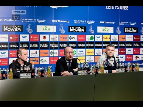 15. Spieltag | MSV - SGD | Pressekonferenz nach dem Spiel