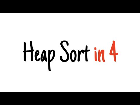 Heap sort in 4 minutes