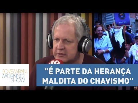 """Nunes: """"Isso é parte da herança maldita do Chavismo (Hugo Chávez)"""", sobre situação na Venezuela"""