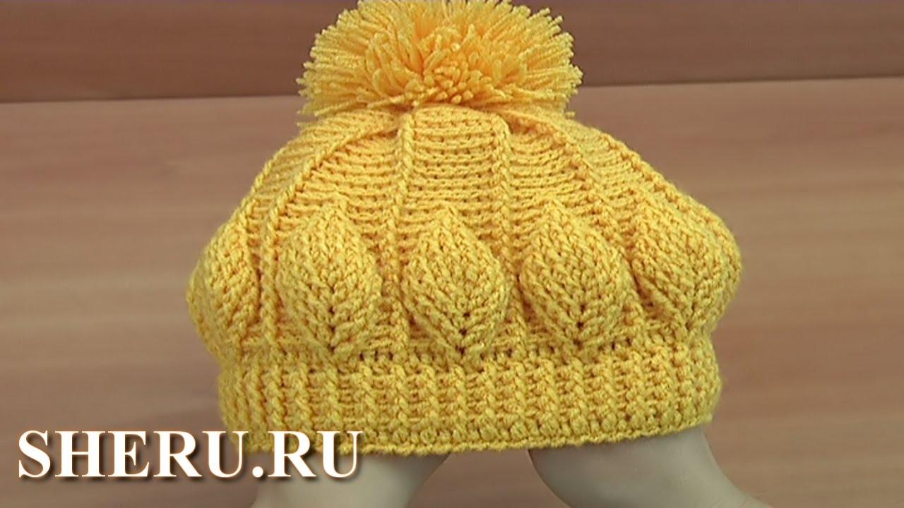 Женские шапки крючком со схемами фото 676