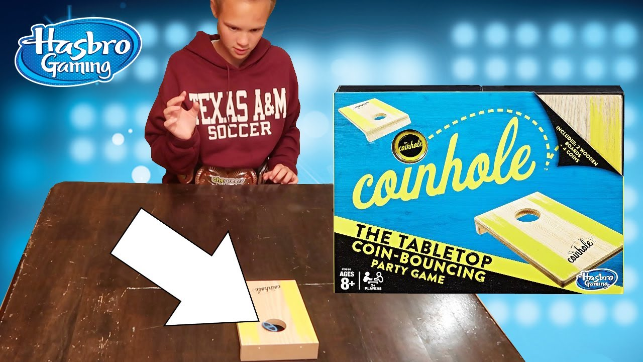 Coinhole Game Table Top Coin Bouncing Game New Hasbro PARTY Game