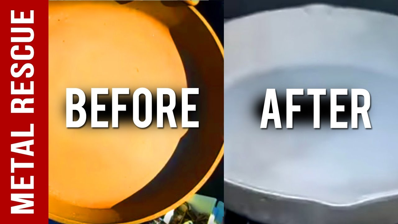 how to clean cast iron pan rusty
