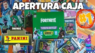 OPENING BOX #1 Trading cards FORTNITE SERIES 1 PANINI