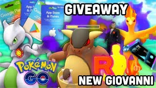 How to claim 91K Stardust in Pokemon GO | Gift card giveaway WINNERS | Giovanni's new shadow team