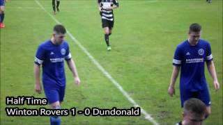 Ardrossan Winton Rovers 2 - 1 Dundonald Bluebell - Scottish Junior Cup 1st Round 24th September 2016