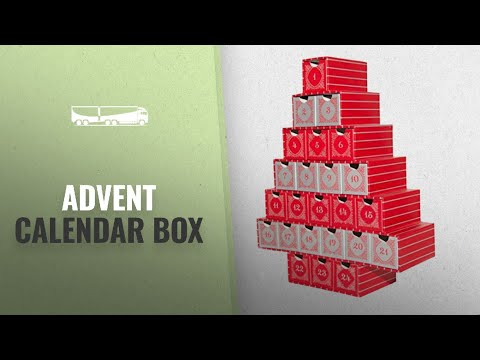 Great Advent Calendar Box [2018]: Simply Baked Treasure Box Advent Calendar, Large, Red and Silver