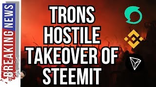 TRONS HOSTILE TAKEOVER OF STEEMIT - DID BINANCE KNOW? OKEX VS BINANCE - GERMANY + CRYPTO - BITCOIN