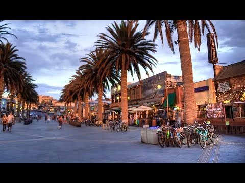 2018 Hermosa Beach - great for a walk by the Pacific Ocean. LA, California