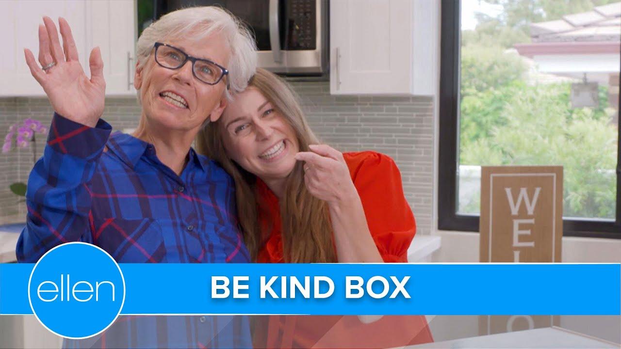 Jeannie & Her Mom Unbox Ellen's Spring BE KIND