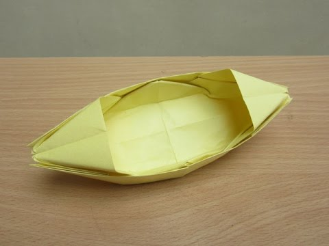 How to Make Paper Boat That Floats on Water - Easy Tutorials - YouTube