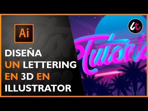 Diseña un lettering retro en 3D | Tutorial Illustrator thumbnail