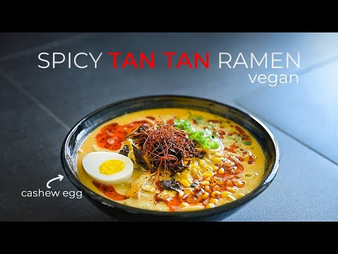 VEGAN RAMEN SPICY TAN TAN RECIPE | HOW TO MAKE TANTANMEN NOODLE BROTH (ビーガンラーメンのレシピ)
