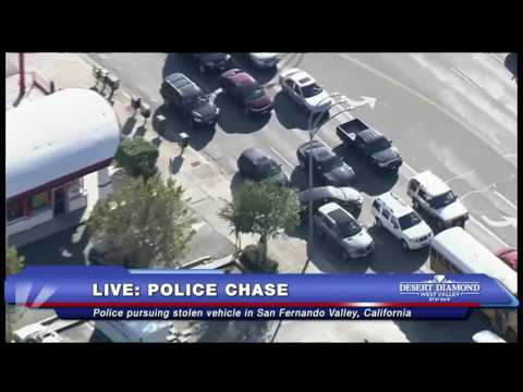 SHOCKING END: Police Chase in San Fernando Valley, CA