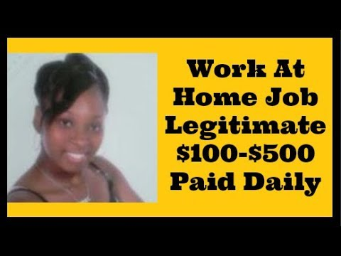 Work From Home Jobs 2017 2018 [Legitimate Work At Home Jobs]