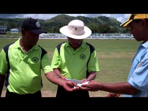Port Moresby Premier Div Cricket Grand Final - Badili Hardware Win the Toss