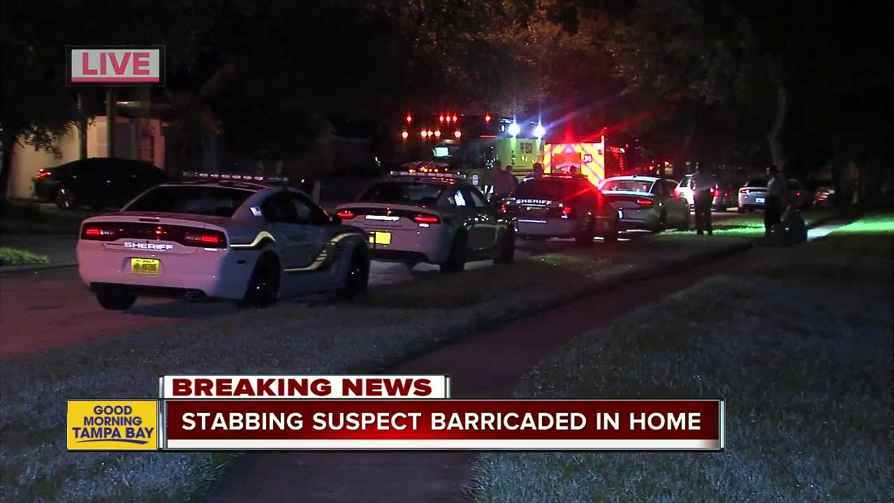 White Man stabs Mother multiple times, barricades himself inside home
