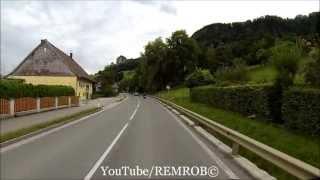 Driving From Old Town Salzburg To Hallein Salt Mines, Austria