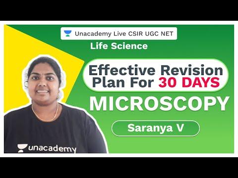 Effective Revision plan for 30 days : CSIR NET | Microscopy | CSIR 2020 | Saranya V | Unacademy