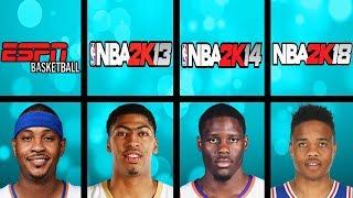 Highest Rated Rookies Ever In NBA 2K Games (NBA 2K - NBA 2K19)