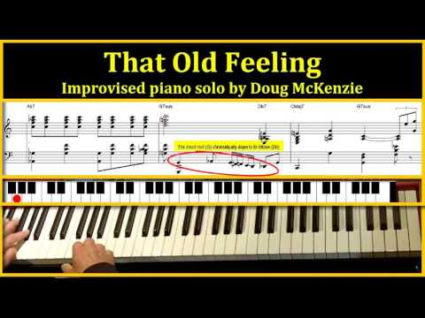 'That Old Feeling' - jazz piano tutorial
