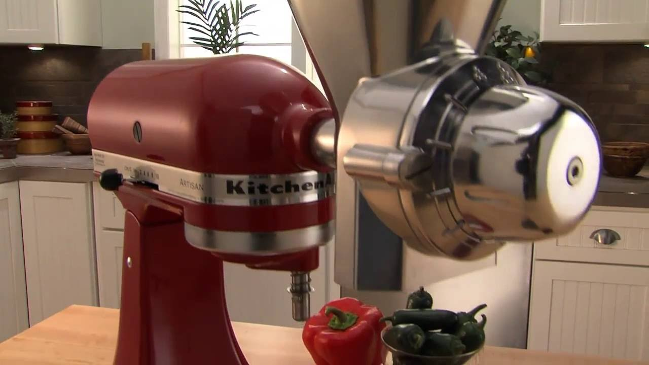 KitchenAid Stand Mixer Grain Mill Attachment - YouTube on blendtec grain mill, vitamix grain mill, magic mill grain mill, food grinder grain mill, family grain mill, cuisinart food mill, motorized grain mill, chinese grain mill, hobart grain mill, country grain mill, bosch grain mill,